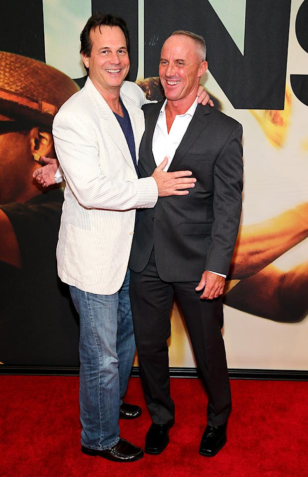 "NEW YORK, NY - JULY 29: (L-R) Bill Paxton and Robert John Burke attend ""2 Guns"" New York Premiere at SVA Theater on July 29, 2013 in New York City.  (Photo by Neilson Barnard/Getty Images)"