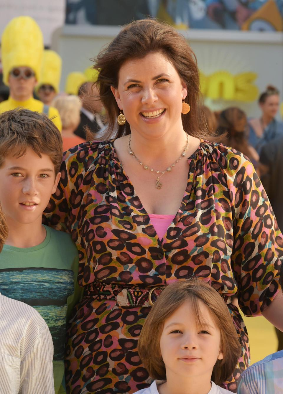 Kirstie Allsopp and her kids attend the World Premiere of Minions at Odeon Leicester Square. (Getty)