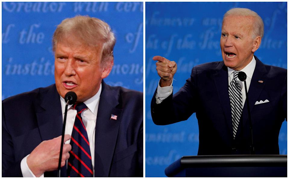 Joe Biden and Donald Trump are duking it out for an Electoral College victory (REUTERS)