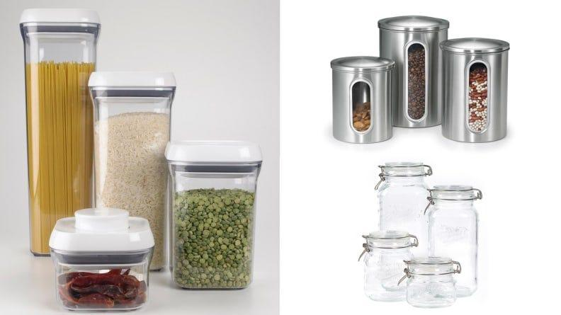 On the counter or in the pantry, these containers look nicer and keep food fresher than the packages they come in.