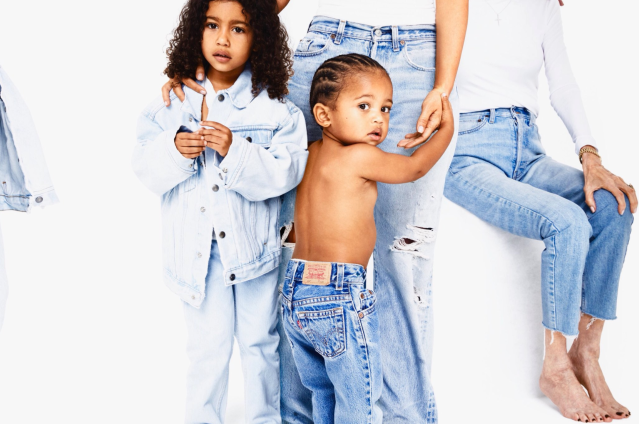 <p>Saint and North pose in front of the camera for this one. In the background, M.J. has a seat. (Photo: Eli Russell Linnetz/Kim Kardashian via Twitter) </p>