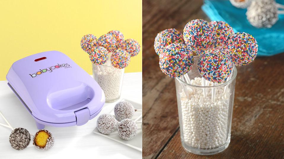 Treat your loved ones to an adorable mini cake pop maker.