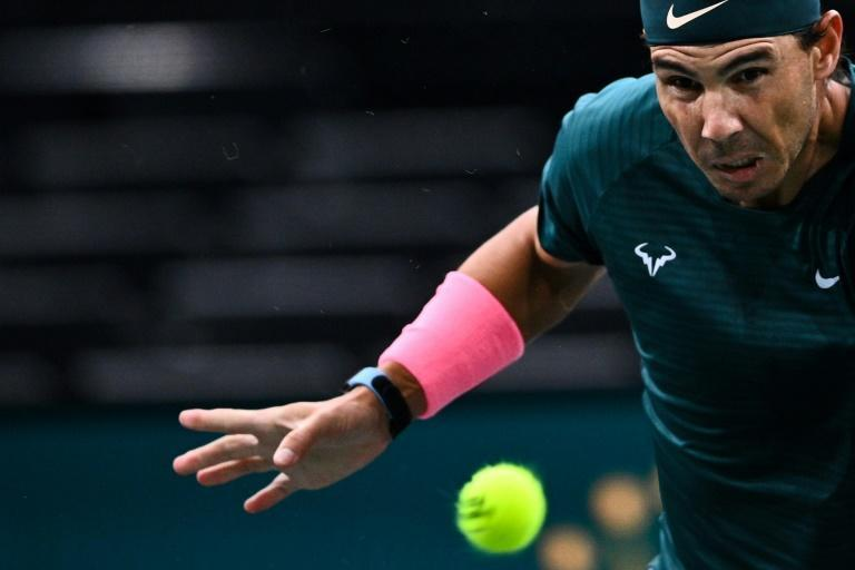 Nadal saved a set point en route to the quarters