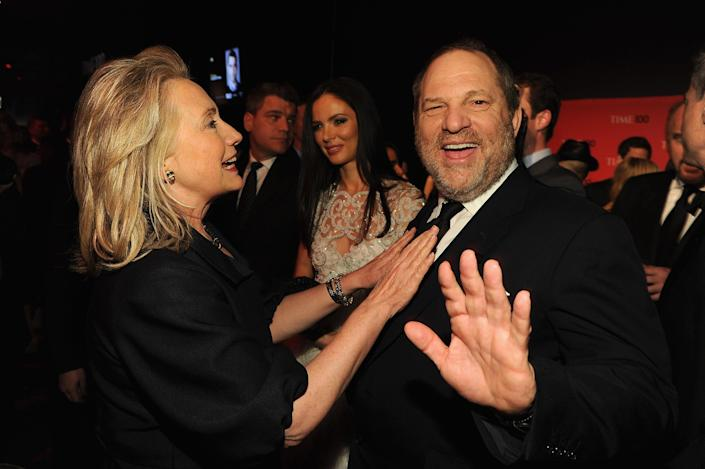 Hillary Clinton and producer Harvey Weinstein attend the 2012 Time 100 Gala in New York City. (Photo by Larry Busacca/Getty Images)