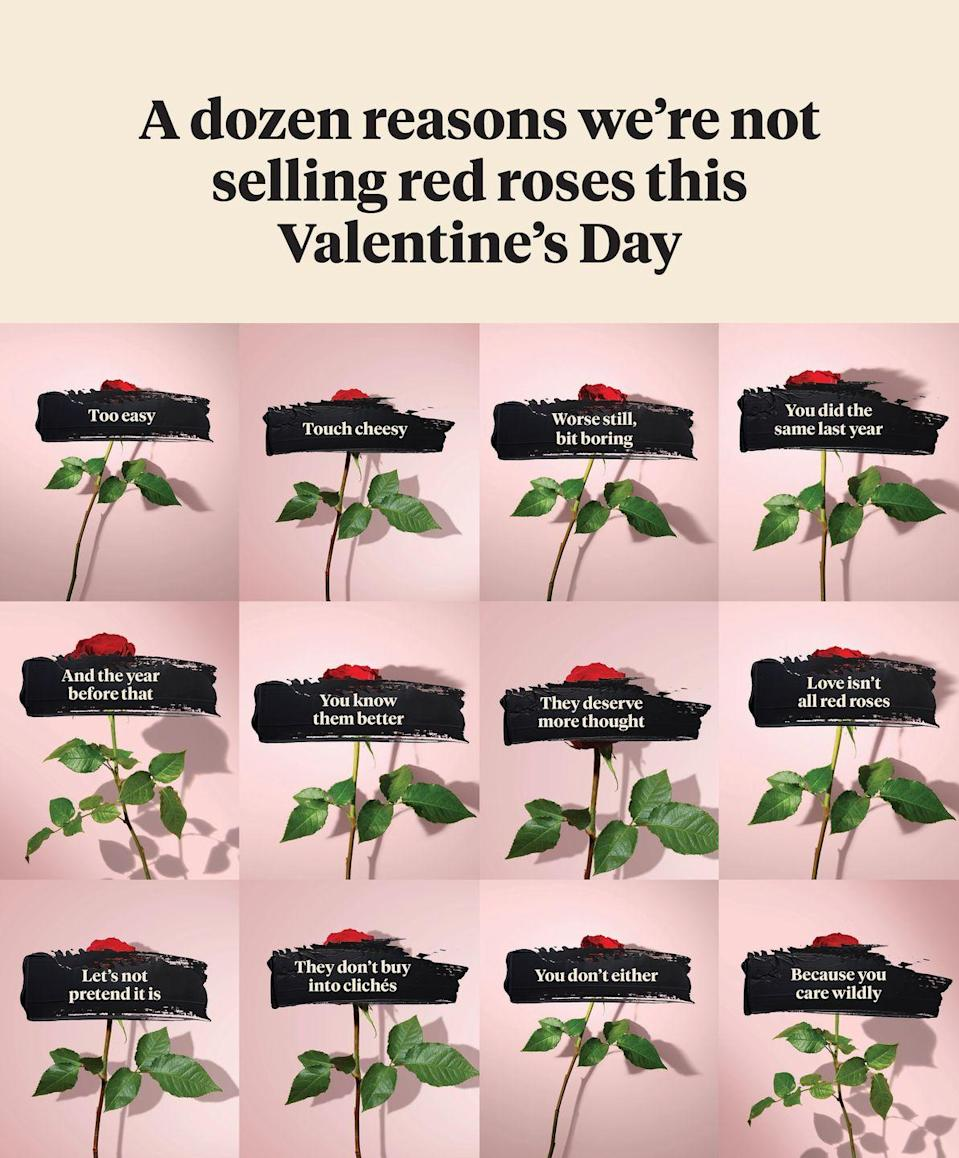 """<p>Now, Bloom & Wild wants to make Valentine's gifting personal, so for Valentine's Day 2021, they've developed <a href=""""https://go.redirectingat.com?id=127X1599956&url=https%3A%2F%2Fwww.bloomandwild.com%2Fsend-flowers%2Ftagonly%2Fvalentines-letterbox-flowers&sref=https%3A%2F%2Fwww.housebeautiful.com%2Fuk%2Flifestyle%2Fshopping%2Fg35318824%2Fbloom-wild-valentines-day-red-roses%2F"""" rel=""""nofollow noopener"""" target=""""_blank"""" data-ylk=""""slk:a range inspired by the complexity of modern love"""" class=""""link rapid-noclick-resp"""">a range inspired by the complexity of modern love</a>.</p><p>'Inspired by the complexity of modern relationships, there are no red rose bouquets this year. In fact, there are no red roses at all. Senders will be able to put real thought into which bouquet feels right for the person they love,' they explain.</p><p><strong>Preview a selection of the Valentine's Day flowers – letterbox and hand tied bouquets – from Bloom & Wild below.</strong></p>"""