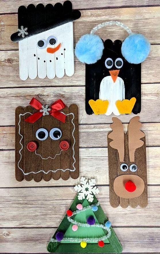 "It's classic, and all you need are some sticks, paint, googly eyes, and some paper. Easy.&nbsp;Learn how to make it at <a href=""https://www.thekeeperofthecheerios.com/2018/11/christmas-craft-sticks.html"" target=""_blank"" rel=""noopener noreferrer"">The Keeper of the Cheerios</a>."