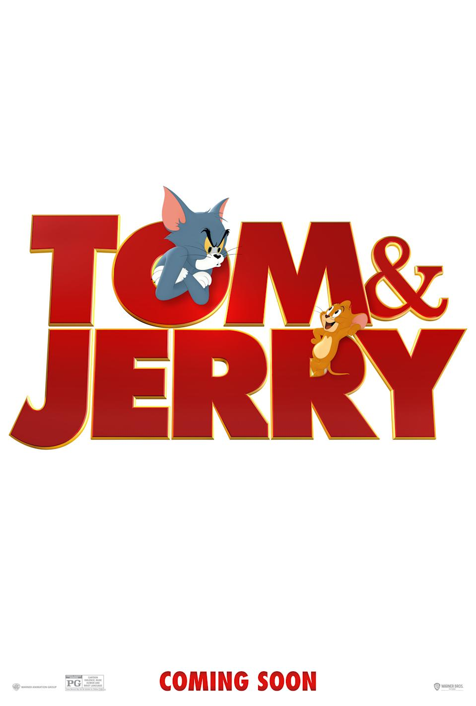 The teaser poster for Tom & Jerry (Warner Bros. Pictures)
