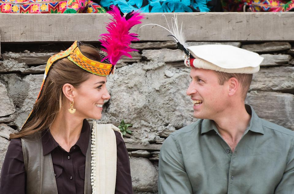<p>The Duke and Duchess of Cambridge during a visit to a settlement of the Kalash people in Chitral, Pakistan</p> (Samir Hussein/PA Archive)