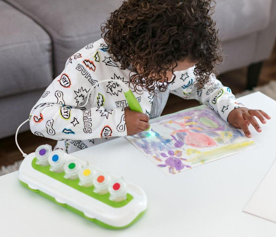 """<p><strong>Crayola</strong></p><p>walmart.com</p><p><strong>$19.97</strong></p><p><a href=""""https://go.redirectingat.com?id=74968X1596630&url=https%3A%2F%2Fwww.walmart.com%2Fip%2F820954494&sref=https%3A%2F%2Fwww.womansday.com%2Flife%2Fg34430618%2Fbest-toys-3-year-olds%2F"""" rel=""""nofollow noopener"""" target=""""_blank"""" data-ylk=""""slk:Shop Now"""" class=""""link rapid-noclick-resp"""">Shop Now</a></p><p>You won't have to worry about your living room sofa or kitchen table getting stained with paint when your toddler is playing with this paint set. The paint is initially clear and then magically appears in color when it's used on the set's special paper. </p>"""