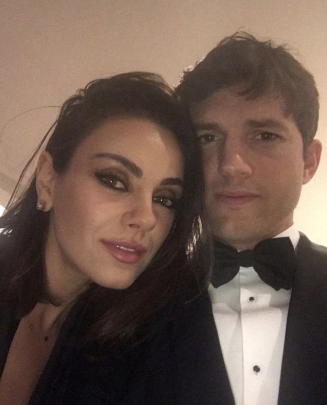 "<p><em>The Ranch</em> star took the opportunity to post a dressed up photo with his one and only, Mila Kunis, as the sultry couple headed out for some partying on Oscars Sunday. ""Night out with the wife,"" he wrote. (Photo: <a href=""https://www.instagram.com/p/Bf7Yq8FnQ88/?taken-by=aplusk"" rel=""nofollow noopener"" target=""_blank"" data-ylk=""slk:Ashton Kutcher via Instagram"" class=""link rapid-noclick-resp"">Ashton Kutcher via Instagram</a>) </p>"