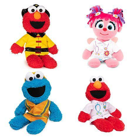 <p>With all the emphasis on appreciating essential workers, kids are more interested than ever in the people in their neighborhood. This plush collection shows favorite characters like Elmo, Abby and Cookie Monster as healthcare workers, firefighters and other local heroes.</p><p><em>Ages 1+<br>$20<br>Available Spring 2021</em></p>