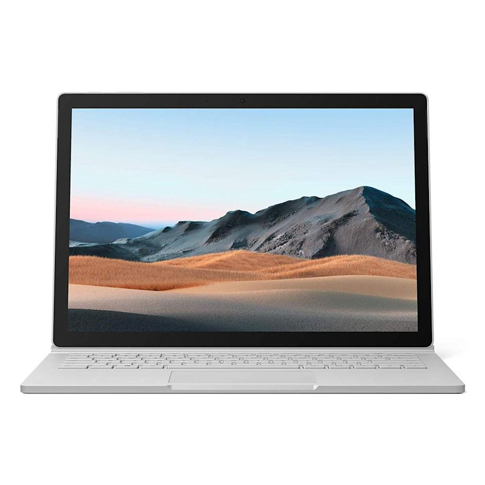 """<p><strong>Microsoft</strong></p><p>amazon.com</p><p><strong>$1999.99</strong></p><p><a href=""""https://www.amazon.com/dp/B086QRVL8P?tag=syn-yahoo-20&ascsubtag=%5Bartid%7C2089.g.2681%5Bsrc%7Cyahoo-us"""" rel=""""nofollow noopener"""" target=""""_blank"""" data-ylk=""""slk:Shop Now"""" class=""""link rapid-noclick-resp"""">Shop Now</a></p><p><strong>Key Specs</strong></p><p><strong>•</strong> <strong>CPU:</strong> 10th-generation Intel Core i7<br><strong>•</strong> <strong>Display:</strong> 13.5-inch detachable touchscreen (3,000 by 2,000 pixels)<br><strong>•</strong> <strong>Graphics:</strong> NVIDIA GeForce GTX 1650 (Max-Q)<br><strong>•</strong> <strong>Memory:</strong> 16GB of RAM, 256GB SSD<br><strong>•</strong> <strong>Battery Life:</strong> Up to 17.5 hours</p><p>No laptop comes even close to offering the same combination of craftsmanship, power, versatility, and battery life as the Microsoft Surface Book 3. Thanks to its detachable display, it can seamlessly transform from a powerful laptop to a tablet. The product is pricey, but well worth splurging on if you want the ultimate do-it-all PC. </p><p>Like the Surface Pro 7 we already mentioned, the Book 3 is also great for video calls, thanks to a duo of Full HD cameras and high-quality microphones. The product is available in a multitude of hardware configurations. In case you need more power and versatility, consider the <a href=""""https://www.amazon.com/dp/B086QRXLQZ?tag=syn-yahoo-20&ascsubtag=%5Bartid%7C2089.g.2681%5Bsrc%7Cyahoo-us"""" rel=""""nofollow noopener"""" target=""""_blank"""" data-ylk=""""slk:15-inch variant"""" class=""""link rapid-noclick-resp"""">15-inch variant</a> instead. Thanks to built-in support for Xbox Wireless controllers, it's better at gaming, too.<br></p><p><strong>More:</strong> <a href=""""https://www.bestproducts.com/tech/gadgets/a32627727/microsoft-surface-book-3-review/"""" rel=""""nofollow noopener"""" target=""""_blank"""" data-ylk=""""slk:An In-Depth Review of the 15-Inch Microsoft Surface Book 3"""" class=""""link rapid-noclick-resp"""">An In-Depth Review of t"""