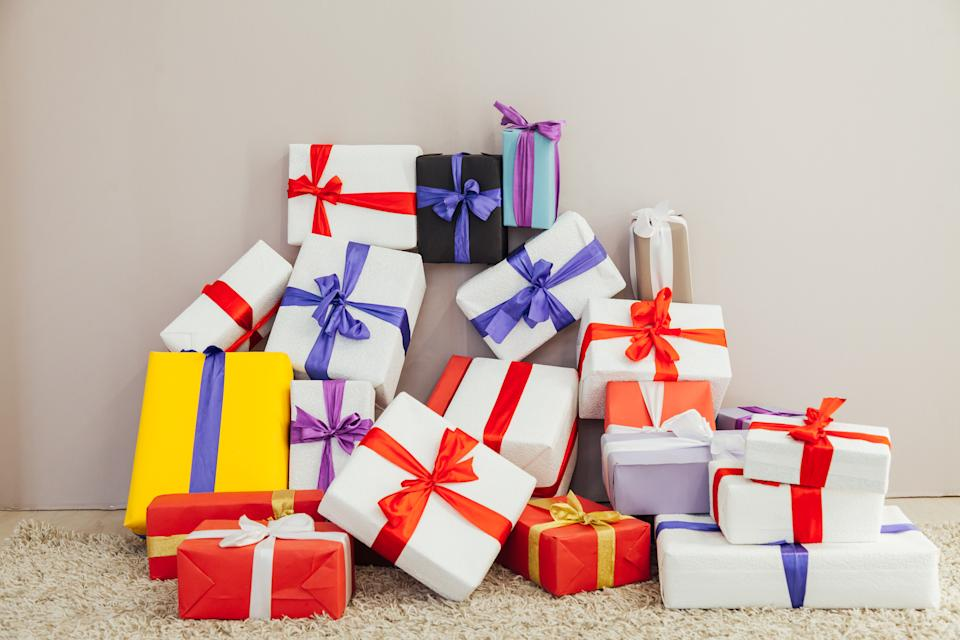 Lots of birthday and Christmas presents