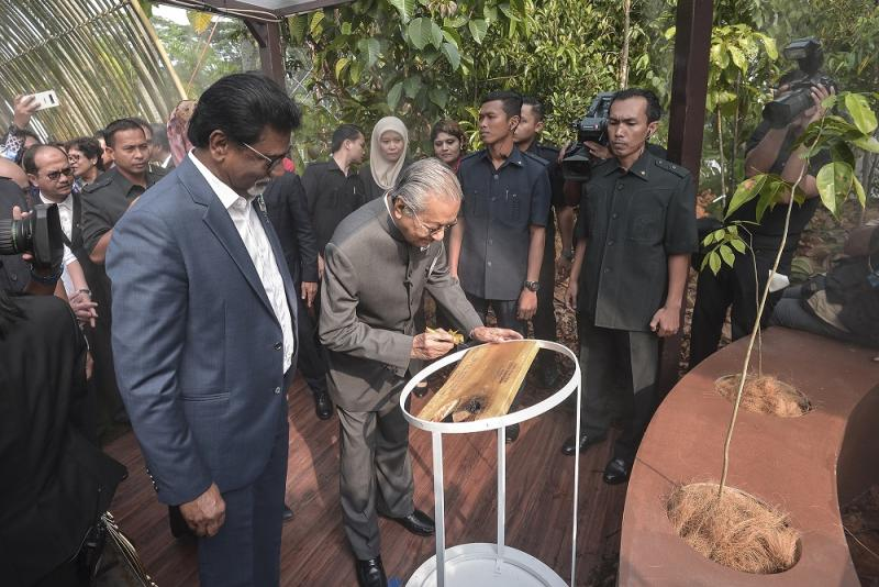 Prime Minister Tun Dr Mahathir Mohamad at the launch of the 'Hutan Kita' exhibition in Kuala Lumpur August 23, 2019. — Picture by Shafwan Zaidon