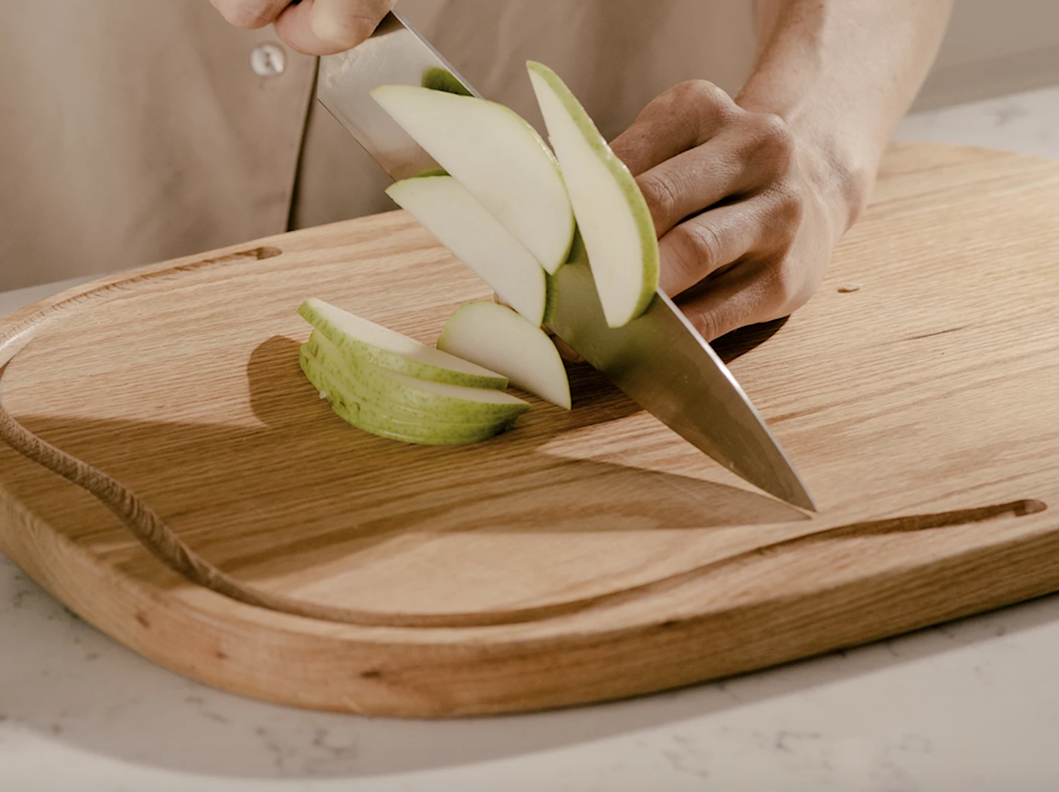 """<h2>Wooden Cutting Board</h2><br>Not all cutting boards are created equally — this one is naturally antibacterial and made from premium oak. <br><br><strong><em><a href=""""https://equalparts.com/shop/kitchen-accessories/"""" rel=""""nofollow noopener"""" target=""""_blank"""" data-ylk=""""slk:Shop Equal Parts"""" class=""""link rapid-noclick-resp"""">Shop Equal Parts</a></em></strong><br><br><strong>Equal Parts</strong> Oak Cutting Board, $, available at <a href=""""https://go.skimresources.com/?id=30283X879131&url=https%3A%2F%2Fequalparts.com%2Fproducts%2Foak-wood-cutting-board%2F%3Fadgroupid%3D102820828739"""" rel=""""nofollow noopener"""" target=""""_blank"""" data-ylk=""""slk:Equal Parts"""" class=""""link rapid-noclick-resp"""">Equal Parts</a>"""