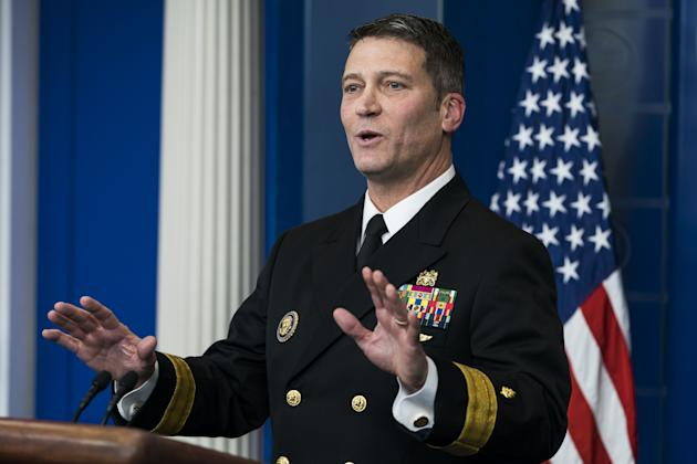 White House doctor Jackson fights to save imperiled VA bid
