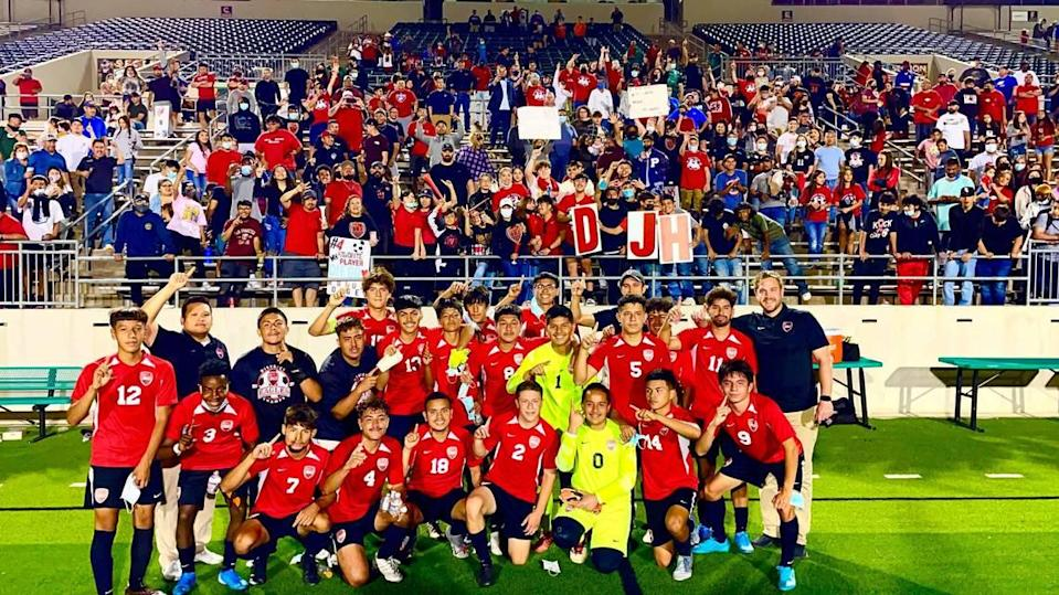 Diamond Hill-Jarvis beat Celina 4-2 in the 4A state semifinals on Tuesday April 13, 2021 at Southlake's Dragon Stadium.