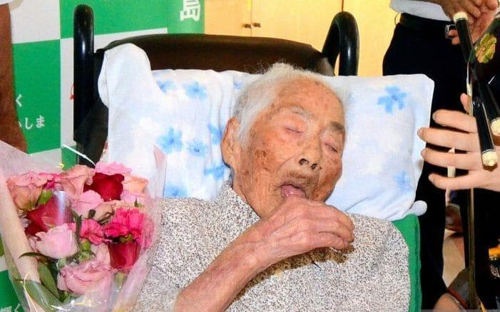 The world's oldest person, a 117-year-old Japanese woman, has died. Nabi Tajima died of old age in a hospital on Saturday evening in the town of Kikai in southern Japan (Getty)