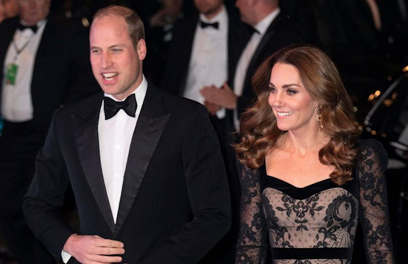 Prince William and Kate Middleton on the red carpet