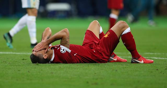 Soccer Football - Champions League Final - Real Madrid v Liverpool - NSC Olympic Stadium, Kiev, Ukraine - May 26, 2018 Liverpool's Dejan Lovren looks dejected at the end of the match REUTERS/Hannah McKay