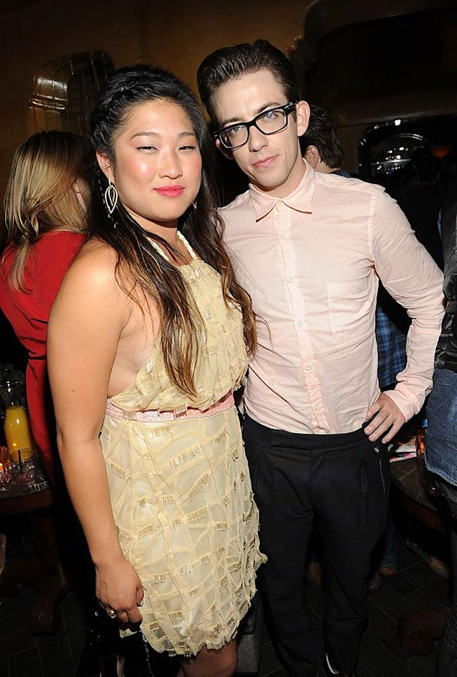 "Twentysomething ""Glee"" co-stars Jenna Ushkowitz and Kevin McHale joined in the ""Young Hollywood"" festivities, too. Michael Buckner/<a href=""http://www.gettyimages.com/"" target=""new"">GettyImages.com</a> - May 4, 2011"