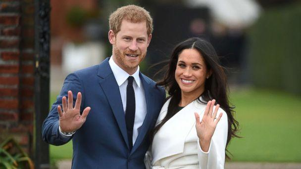 PHOTO: Britain's Prince Harry poses with his fiancee Meghan Markle during a photocall after announcing their engagement in the Sunken Garden at Kensington Palace in London, Nov. 27, 2017. (Facundo Arrizabalaga/EPA)