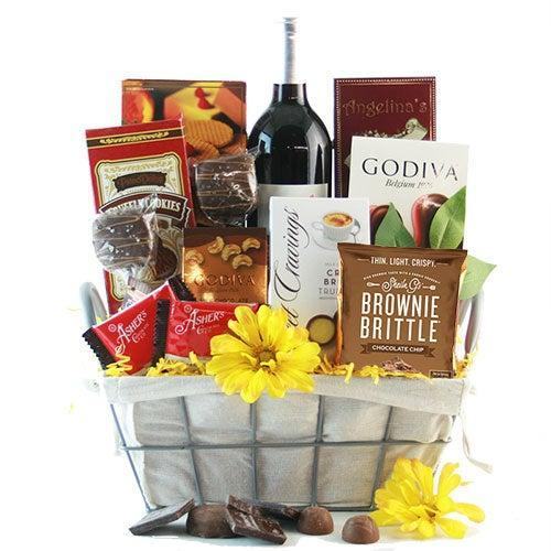 """<h2>How Sweet It Is Red Wine Gift Basket</h2><br>Shopping for the person who is always asking for more Merlot has never been easier.<br><br><strong><em><a href=""""https://fave.co/3lOzF6A"""" rel=""""nofollow noopener"""" target=""""_blank"""" data-ylk=""""slk:Shop Design It Yourself Gift Baskets"""" class=""""link rapid-noclick-resp"""">Shop Design It Yourself Gift Baskets</a></em></strong><br><br><strong>design it yourself gift baskets</strong> How Sweet It Is Red Wine Gift Basket, $, available at <a href=""""https://go.skimresources.com/?id=30283X879131&url=https%3A%2F%2Ffave.co%2F2K8QZFv"""" rel=""""nofollow noopener"""" target=""""_blank"""" data-ylk=""""slk:design it yourself gift baskets"""" class=""""link rapid-noclick-resp"""">design it yourself gift baskets</a>"""