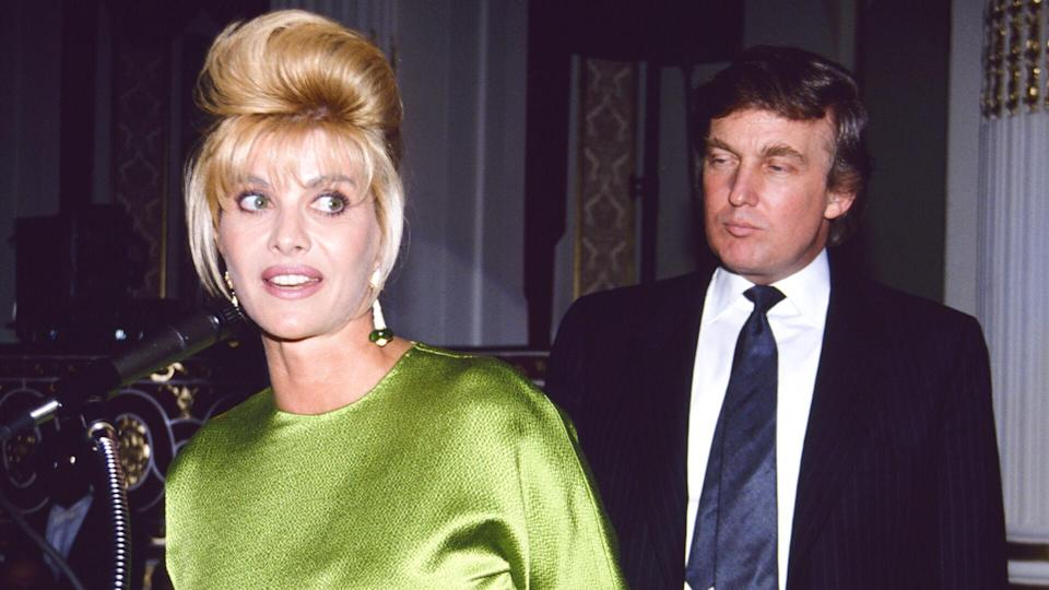 Mandatory Credit: Photo by BUTLER/BAUER/REX/Shutterstock (183864j)Donald Trump and Ivana TrumpDONALD AND IVANA TRUMP, 1991.