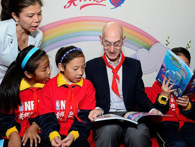With earlier games, Adam Silver is out to take more time away from you and your kids. (Getty Images)
