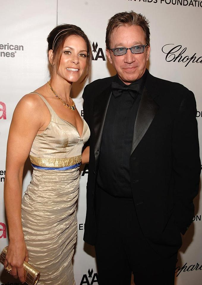 """<a href=""""http://movies.yahoo.com/movie/contributor/1800021848"""">Tim Allen</a> and guest attends the 16th Annual Elton John AIDS Foundation Oscar Party at the Pacific Design Center in West Hollywood - 02/24/2008"""