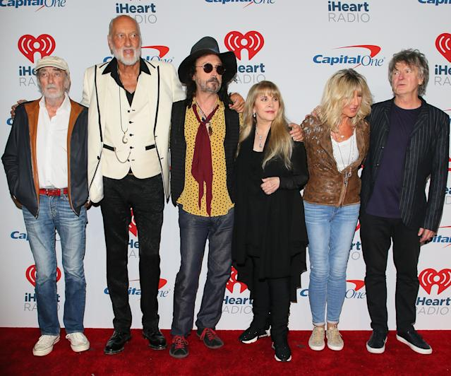 John McVie, Mick Fleetwood, Mike Campbell, Stevie Nicks, Christine McVie and Neil Finn of Fleetwood Mac attend the 2018 iHeartRadio Music Festival at T-Mobile Arena on September 21, 2018 in Las Vegas, Nevada. (Photo by JB Lacroix/WireImage)
