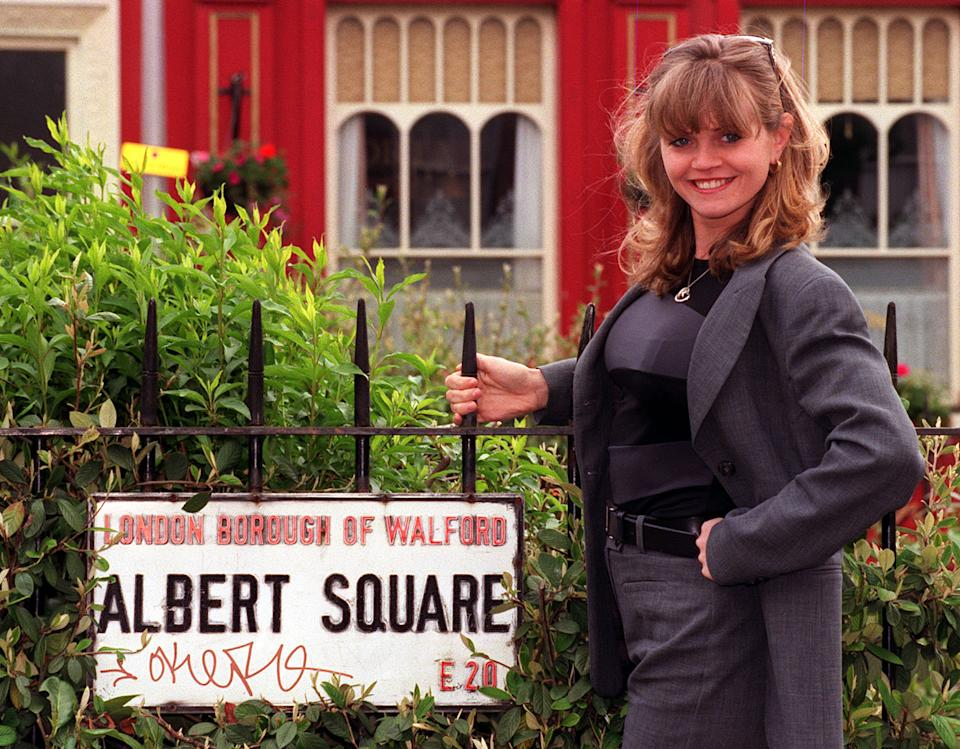 Danniella Westbrook, pictured ahead of her 'EastEnders' return in 1999. (Photo by Andrew Stuart/PA Images via Getty Images)