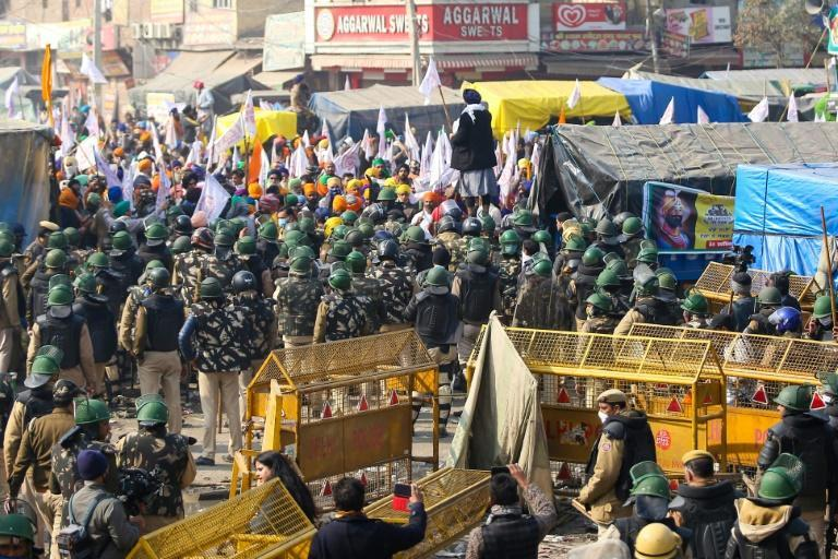 Thousands of extra police have been deployed in the capital and around the camps since the protests turned violent on Tuesday