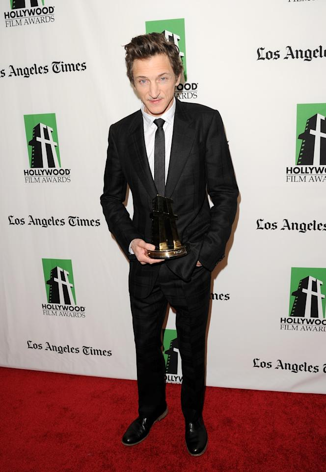 BEVERLY HILLS, CA - OCTOBER 22:  Actor John Hawkes poses with the Hollywood Breakout Performance Award during the 16th Annual Hollywood Film Awards Gala presented by The Los Angeles Times held at The Beverly Hilton Hotel on October 22, 2012 in Beverly Hills, California.  (Photo by Jason Merritt/Getty Images)