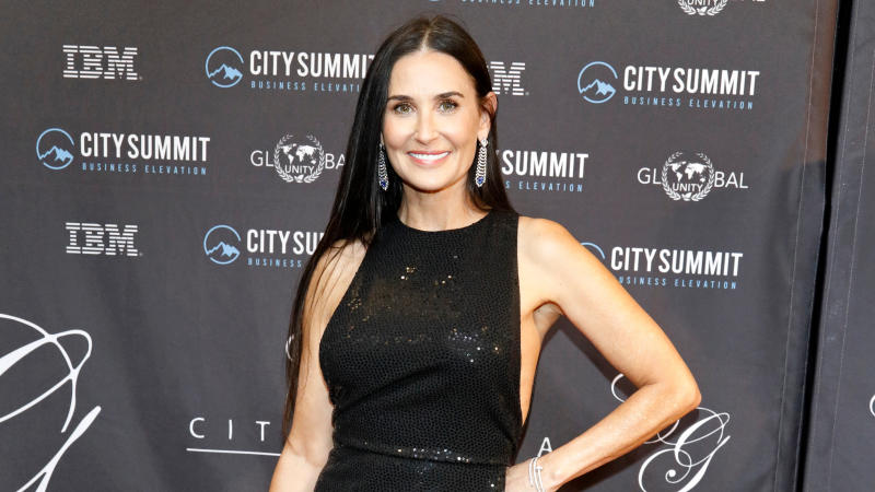 Demi Moore at the 5th Annual City Summit and Gala held at Caesar's The Great Banquet Hall on February 10, 2020. (Credit: P. Lehman/Barcroft Media via Getty Images)