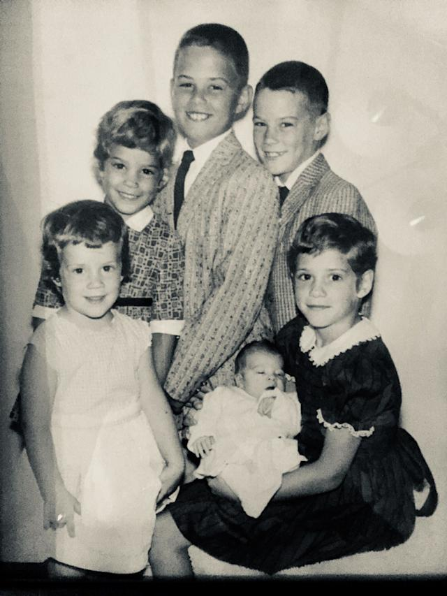 <i>Clockwise from lower left:</i>Marianne, Kathy, Michael, Tommy and Terry,who's holding Patrick. (The youngest son, Eddie, had not been born yet.)