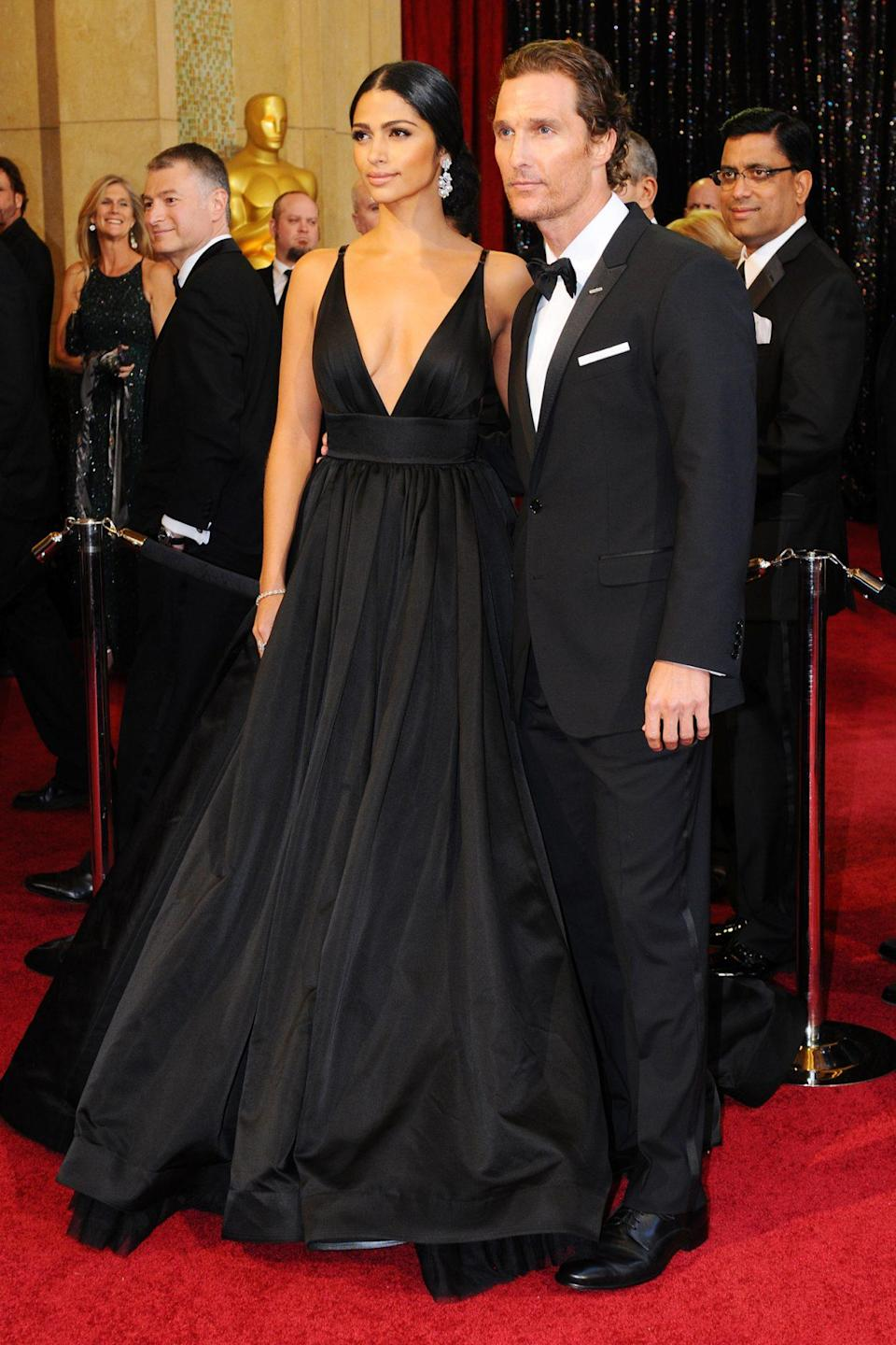 <p>Camila Alves and Matthew McConaughey made for one gorgeous couple on the 2011 Oscars red carpet. One year later, the pair would marry. </p>