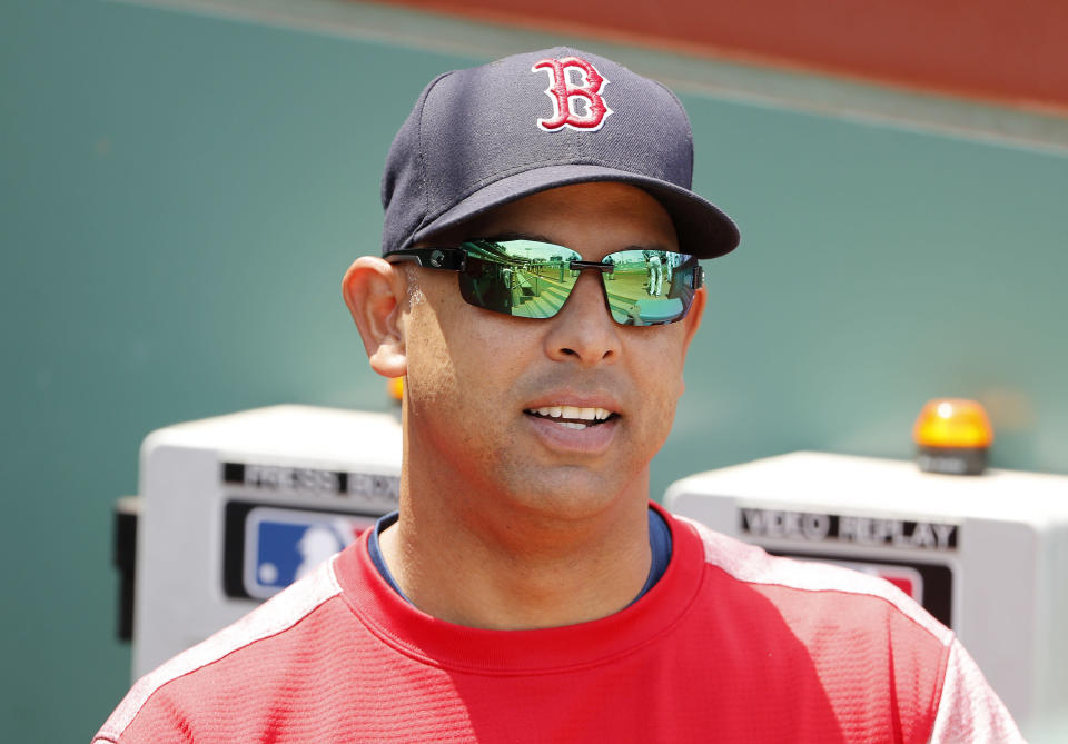 Boston Red Sox manager Alex Cora should win AL Manager of the Year in his first season. (AP)