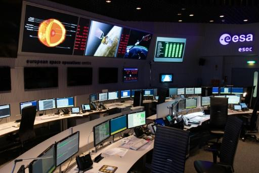 This is the main control room of the European Space Operations Center in Darmstadt, Germany, which will control the mission of the Solar Orbiter, an ESA/NASA collaboration