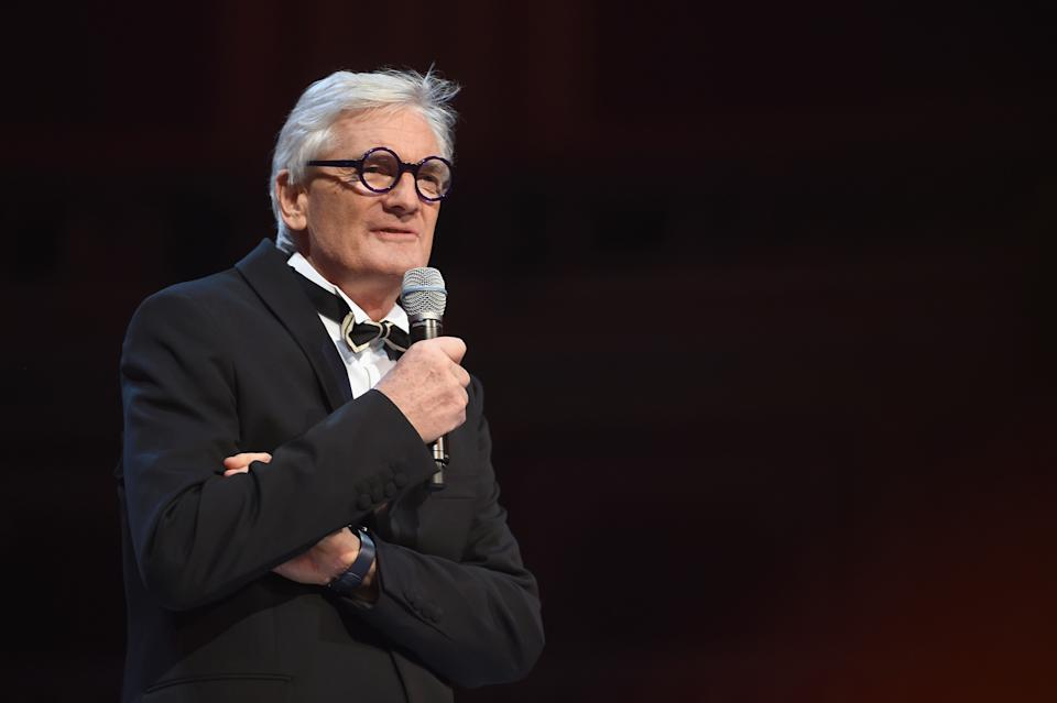 LONDON, ENGLAND - DECEMBER 04:  Sir James Dyson presents the Special Recognition award for Innovation on stage during The Fashion Awards 2017 in partnership with Swarovski at Royal Albert Hall on December 4, 2017 in London, England.  (Photo by Stuart Wilson/BFC/Getty Images)