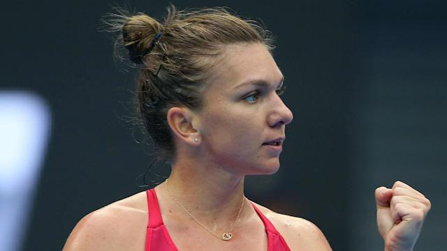 Maria Sharapova suffered an error-strewn outing as Simona Halep put her to the sword at the China Open, winning in straight sets.