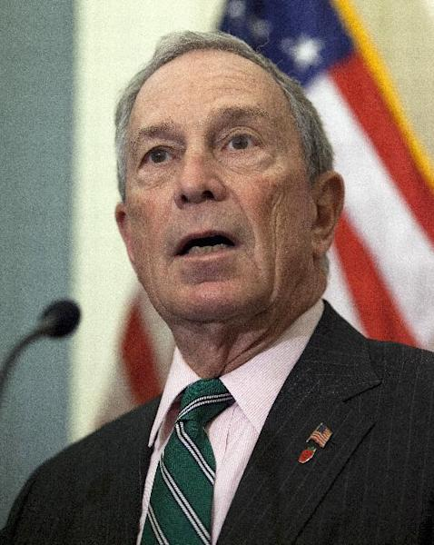 New York City Mayor Michael Bloomberg speaks during a news conference on Capitol Hill in Washington, Wednesday, Nov. 28, 2012, to discuss disaster relief funds for Superstorm Sandy. (AP Photo/ Evan Vucci)