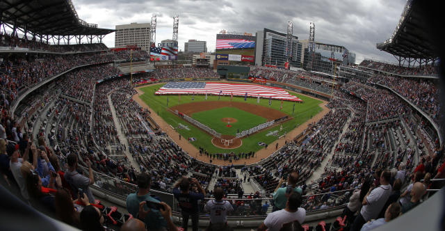 "Police say that a worker found a dead body at SunTrust Park, the home of the <a class=""link rapid-noclick-resp"" href=""/mlb/teams/atl"" data-ylk=""slk:Atlanta Braves"">Atlanta Braves</a>. (AP)"