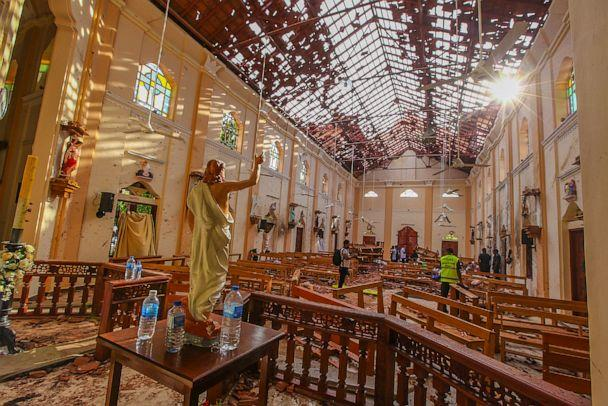 PHOTO: A view of St. Sebastian's Church damaged in blast in Negombo, north of Colombo, Sri Lanka, April 21, 2019. (Chamila Karunarathne/AP)