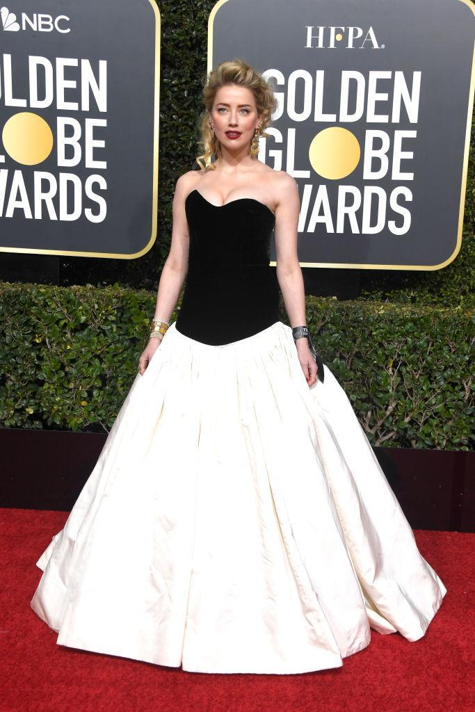 <p>Amber Heard attends the 76th Annual Golden Globe Awards at the Beverly Hilton Hotel in Beverly Hills, Calif., on Jan. 6, 2019. (Photo: Getty Images) </p>