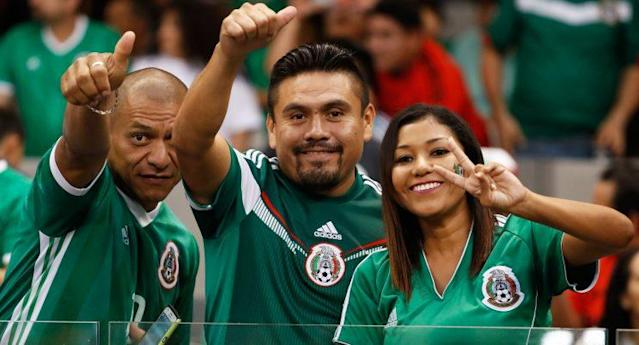 Mexico fans have reason to smile with El Tri atop the Hex. (AP Photo)