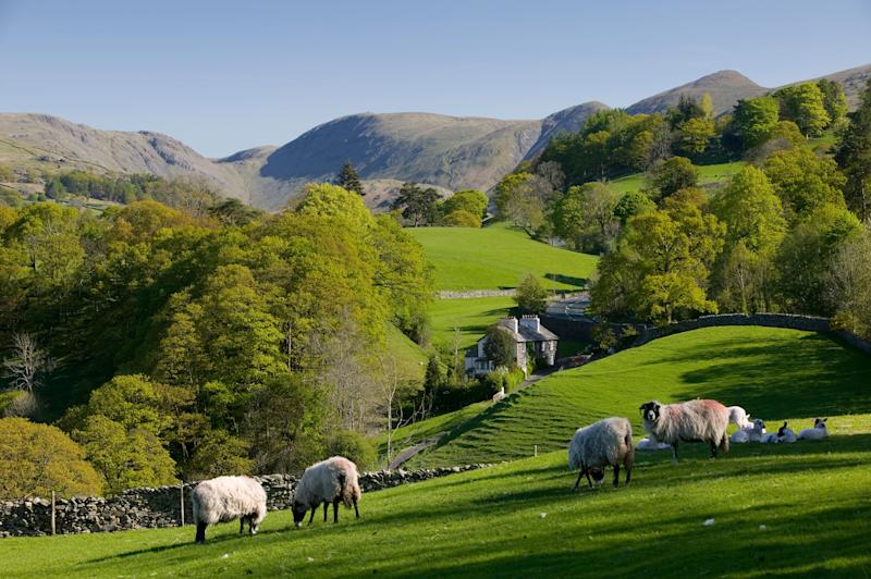 Spring in Troutbeck Valley with the Kentmere Fells beyond, in the scenic Lake District (Photo: Tonywestphoto via Getty Images)