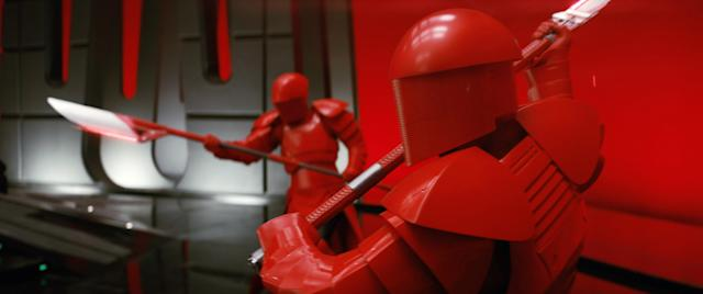 The Praetorian Guards guard Snoke in his throne room (Photo: Lucasfilm)