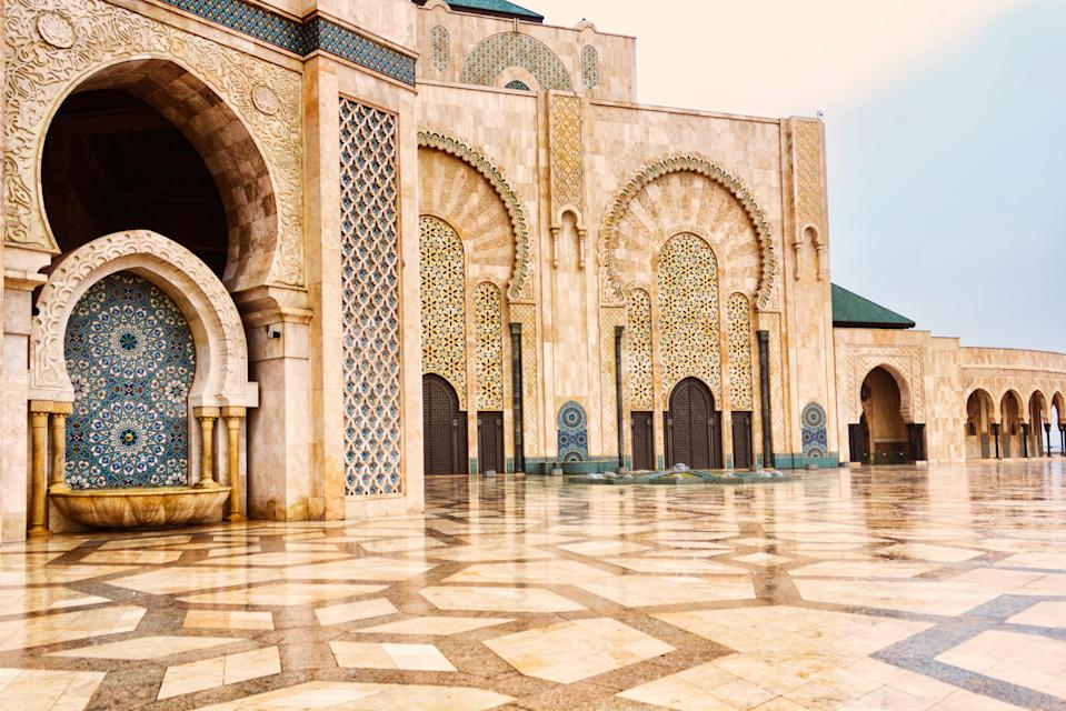 "There's a reason many of our editors keep returning to <a href=""https://www.cntraveler.com/story/beyond-the-basics-morocco?mbid=synd_yahoo_rss"" rel=""nofollow noopener"" target=""_blank"" data-ylk=""slk:Morocco"" class=""link rapid-noclick-resp"">Morocco</a>: It's full of lively cities and dynamic natural landscapes. In touring <a href=""https://www.cntraveler.com/stories/2015-09-09/what-to-do-and-see-now-in-fez-moroccos-most-beautiful-city?mbid=synd_yahoo_rss"" rel=""nofollow noopener"" target=""_blank"" data-ylk=""slk:Fez"" class=""link rapid-noclick-resp"">Fez</a>, Marrakech, and Casablanca, you'll get to experience everything from visiting the Roman ruins of Volubilis to spending an evening in Marrakech's Djemaa el Fna market square—complete with musicians, fire eaters, storytellers, and snake charmers. With a year's notice, you can book a fantastic guide to take you through every stop—make sure to add on a stop at the beautiful <a href=""https://www.cntraveler.com/stories/2015-01-26/where-to-stay-and-where-to-shop-in-marrakech?mbid=synd_yahoo_rss"" rel=""nofollow noopener"" target=""_blank"" data-ylk=""slk:Ourika Valley"" class=""link rapid-noclick-resp"">Ourika Valley</a>—and secure the <a href=""https://www.cntraveler.com/story/beyond-the-basics-morocco?mbid=synd_yahoo_rss"" rel=""nofollow noopener"" target=""_blank"" data-ylk=""slk:best hotel rooms and tables"" class=""link rapid-noclick-resp"">best hotel rooms and tables</a> in every city."