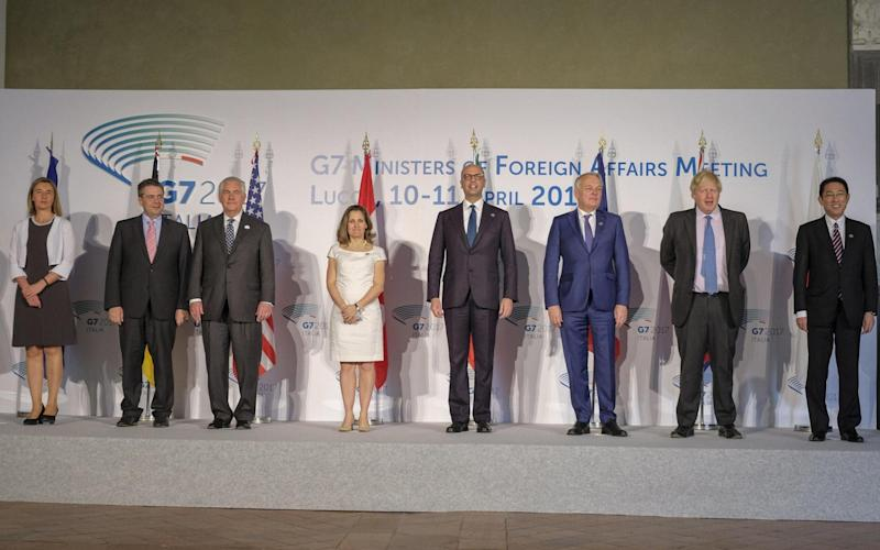 G7 ministers - Credit: Ansa
